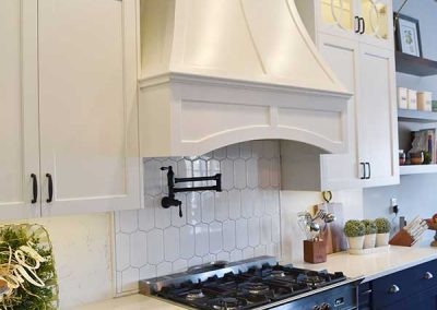 Slopped Wood Hood W/ arched valance
